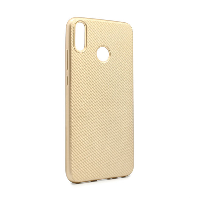 Case Luo Carbon fiber for Huawei Honor 8X, gold