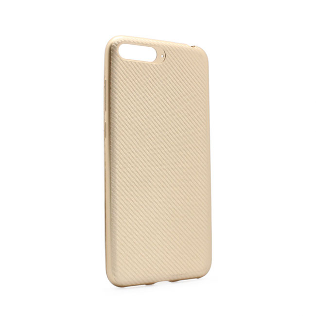 Case Luo Carbon fiber for Huawei Y6 2018, gold