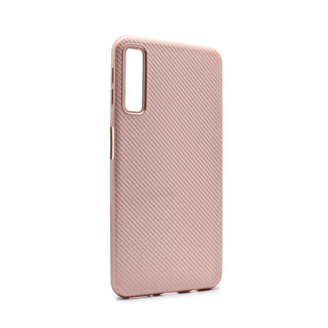 Case Luo Carbon fiber for Samsung A750F Galaxy A7 2018, pink
