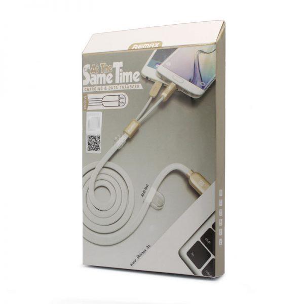 podatkovni-in-polnilni-kabel-remax-binary-rc-025t-za-iphone-5-iphone-6-6s-micro-usb-beli-1m-1