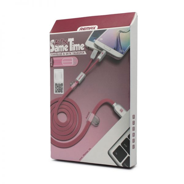 podatkovni-in-polnilni-kabel-remax-binary-rc-025t-za-iphone-5-iphone-6-6s-micro-usb-roza-1m-1