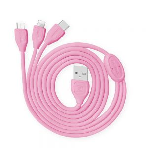 polnilni-in-podatkovni-kabel-remax-lesu-rc-050th-za-iphone-6-6s-micro-usb-type-c-roza-1m