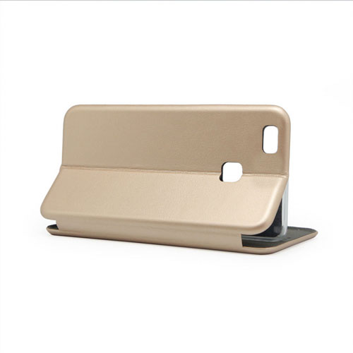 Case Flip Cover for Huawei P9 Lite, gold | Mobimania