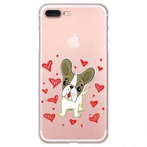 print-motive-cute-dog-with-hearts
