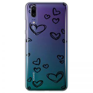 silikonski-ovitek-za-huawei-p-20-black-hearts