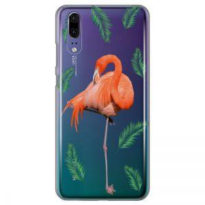 silikonski-ovitek-za-huawei-p-20-summer-flamingo