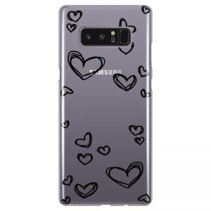 silikonski-ovitek-za-samsung-galaxy-note-8-black-hearts