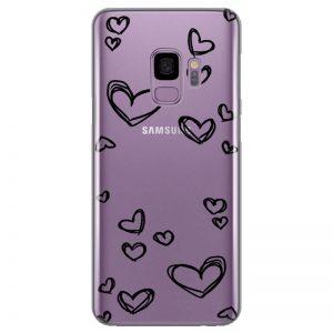 silikonski-ovitek-za-samsung-galaxy-s-9-black-hearts