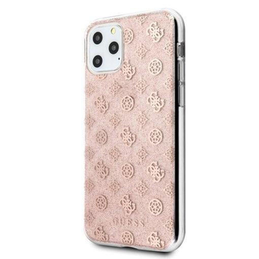 ovitek guess za iphone 11 pro max peony glitter roza 3