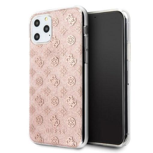 ovitek guess za iphone 11 pro max peony glitter roza