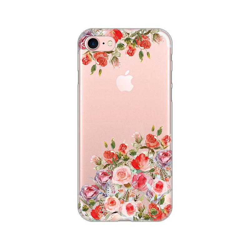 "Ovitek TPU gel ""Flowers"" za iPhone SE 2020   Mobimania"