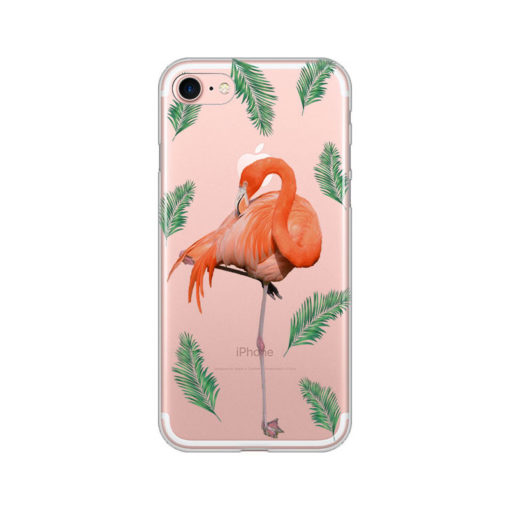 silikonski ovitek za iphone se 2020 summer flamingo