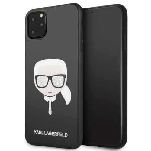 ovitek karl lagerfeld za iphone 11 iconic glitter crna