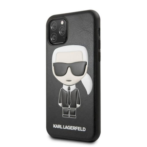 ovitek karl lagerfeld za iphone 11 pro crna leather 1