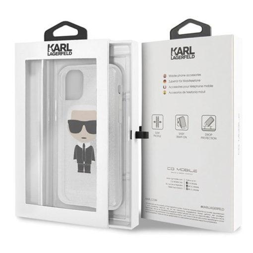 ovitek karl lagerfeld za iphone 11 pro srebrna 4