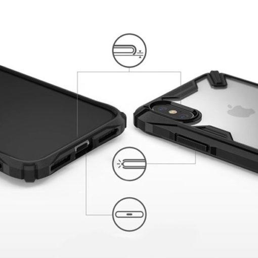 ovitek ringke fusion x za iphone x xs crna 1