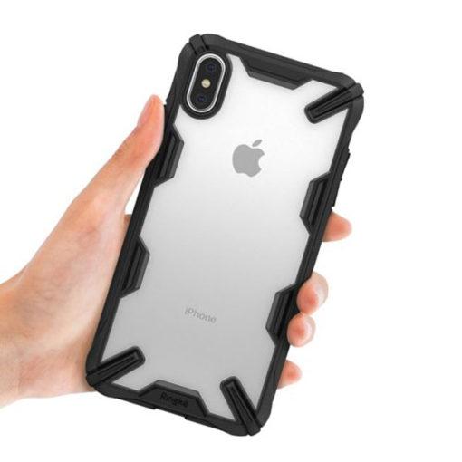 ovitek ringke fusion x za iphone xs max crna 2