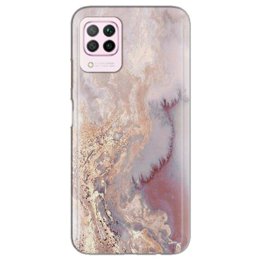 silikonski ovitek pink marble za huawei p40 lite