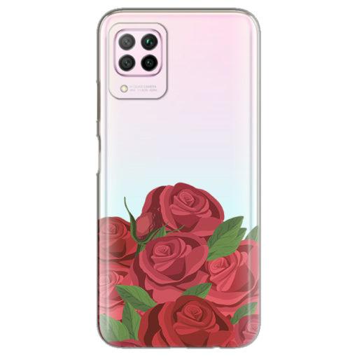 silikonski ovitek roses za huawei p40 lite