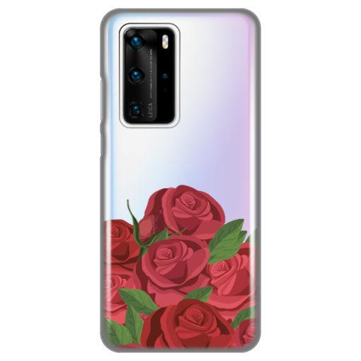 silikonski ovitek roses za huawei p40 pro