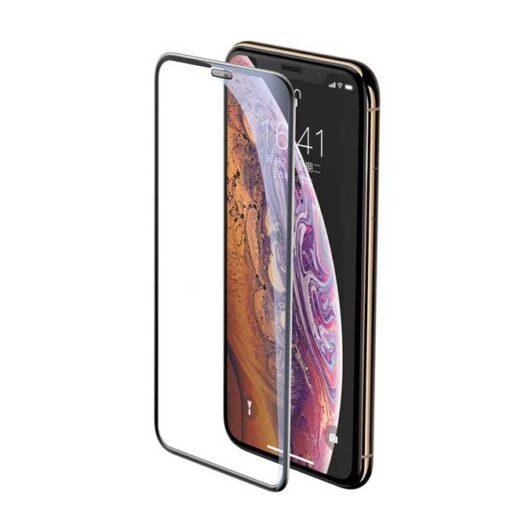 kaljeno zascitno steklo full glue za apple iphone 12 mini crna obroba 1