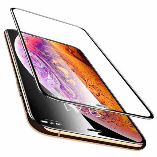 kaljeno zascitno steklo full glue za apple iphone 12 pro crna obroba 2