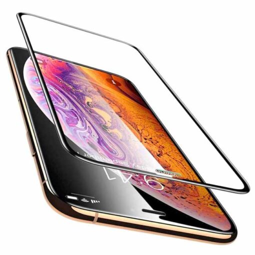 kaljeno zascitno steklo full glue za apple iphone 12 pro max crna obroba 2