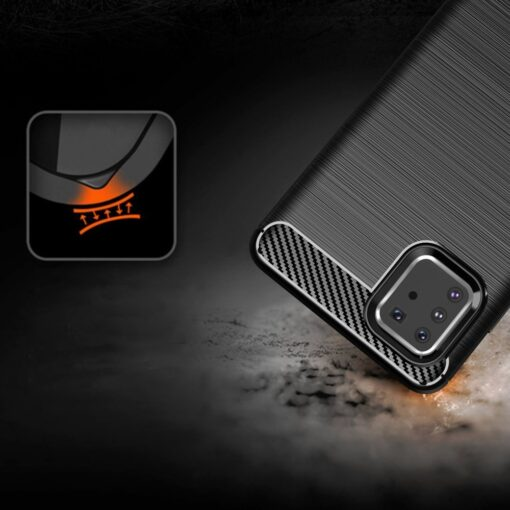 ovitek Carbon Flexible za Samsung Galaxy Note 10 Lite crna 4