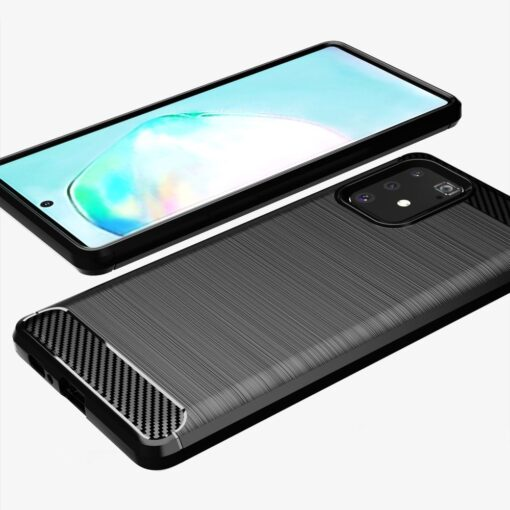 ovitek Carbon Flexible za Samsung Galaxy S10 Lite crna 3