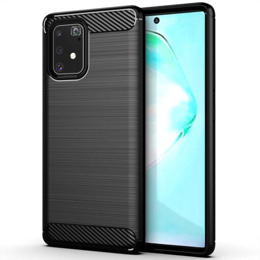 ovitek Carbon Flexible za Samsung Galaxy S10 Lite crna