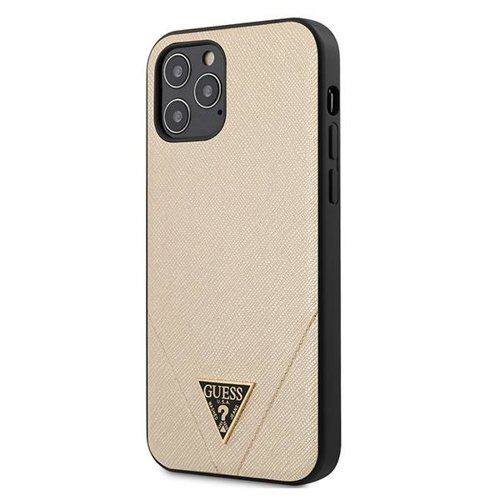 ovitek Guess za iPhone 12 Pro hardcase Saffiano zlata