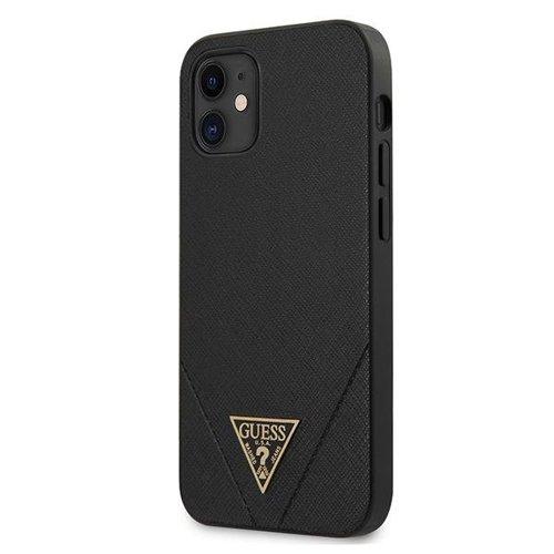 ovitek Guess za iPhone 12 mini hardcase Saffiano crna