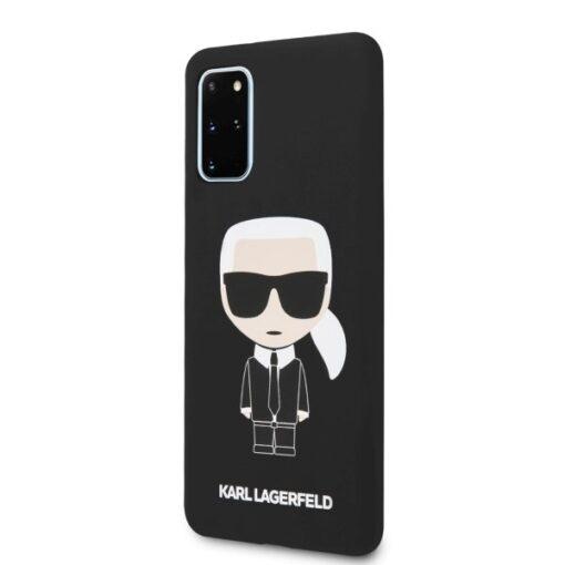 ovitek Karl Lagerfeld za Samsung Galaxy S20 Plus hardcase Silicone Iconic crna 1