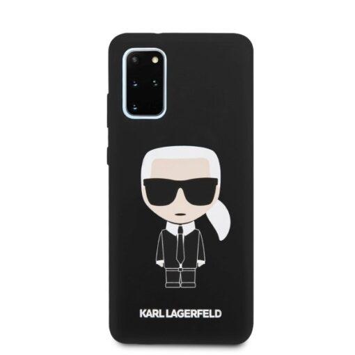 ovitek Karl Lagerfeld za Samsung Galaxy S20 Plus hardcase Silicone Iconic crna 3