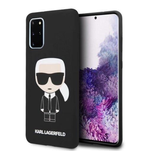 ovitek Karl Lagerfeld za Samsung Galaxy S20 Plus hardcase Silicone Iconic crna