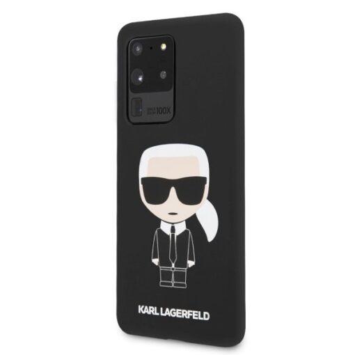 ovitek Karl Lagerfeld za Samsung Galaxy S20 Ultra hardcase Silicone Iconic crna 1