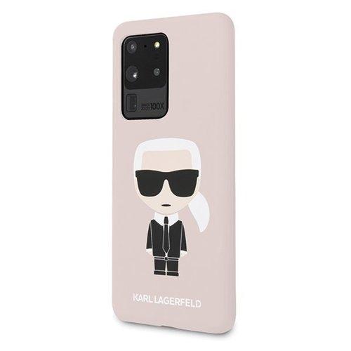 ovitek Karl Lagerfeld za Samsung Galaxy S20 Ultra hardcase Silicone Iconic roza 1