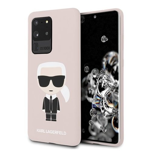 ovitek Karl Lagerfeld za Samsung Galaxy S20 Ultra hardcase Silicone Iconic roza