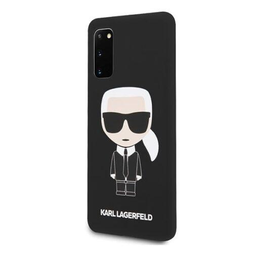 ovitek Karl Lagerfeld za Samsung Galaxy S20 hardcase Silicone Iconic crna 1