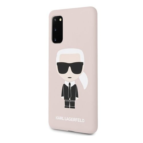 ovitek Karl Lagerfeld za Samsung Galaxy S20 hardcase Silicone Iconic roza 1