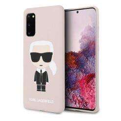 ovitek Karl Lagerfeld za Samsung Galaxy S20 hardcase Silicone Iconic roza