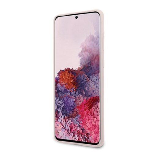 ovitek Karl Lagerfeld za Samsung Galaxy S20 hardcase Silicone Iconic roza 3