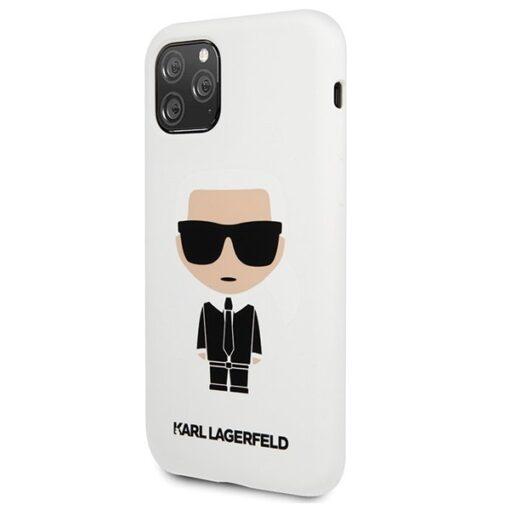 ovitek Karl Lagerfeld za iPhone 11 Pro Max Silicone Iconic bela 1