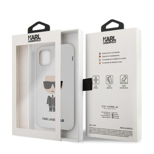 ovitek Karl Lagerfeld za iPhone 11 Pro Max Silicone Iconic bela 2
