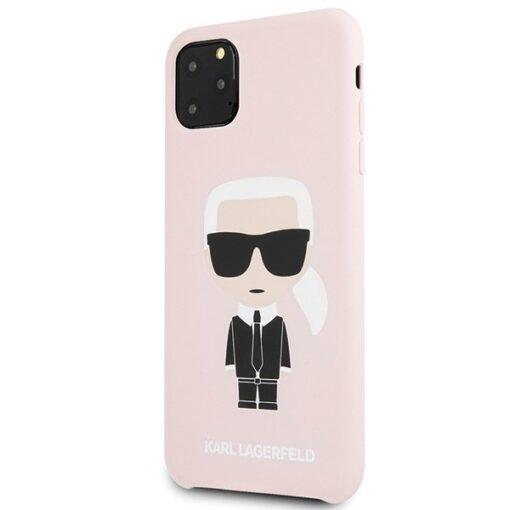 ovitek Karl Lagerfeld za iPhone 11 Pro Max hardcase Silicone Iconic roza 1