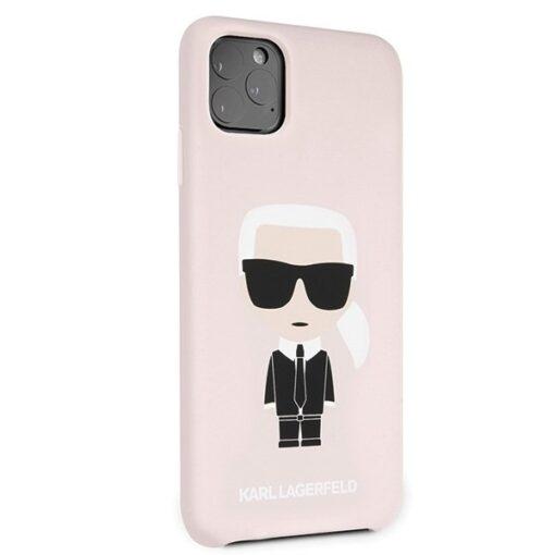 ovitek Karl Lagerfeld za iPhone 11 Pro Max hardcase Silicone Iconic roza 2