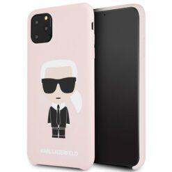 ovitek Karl Lagerfeld za iPhone 11 Pro Max hardcase Silicone Iconic roza