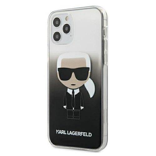 ovitek Karl Lagerfeld za iPhone 12 Pro Max hardcase Gradient Ikonik Karl crna