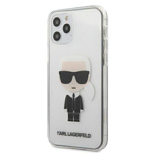 ovitek Karl Lagerfeld za iPhone 12 pro max hardcase ikonik transparent