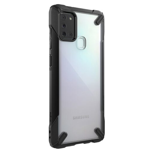 ovitek Ringke Fusion X durable za Samsung Galaxy A21S crna 1